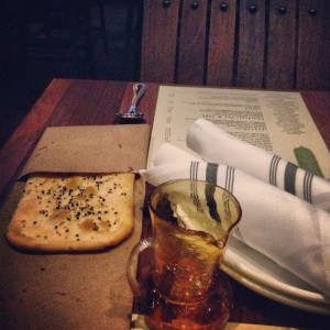 Flatbread with seasame seeds and olive oil