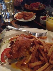 Front - L.E.S Egg Sandwich, Back - Chorizo Hash